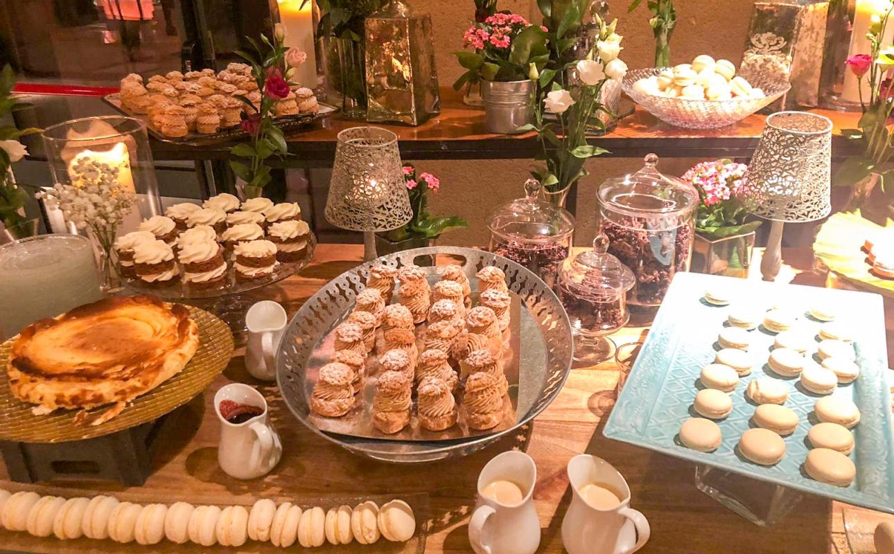 Mesas de dulces en La Quinta de Jarama